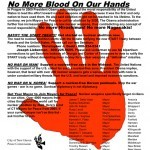 No More Blood on Our Hands